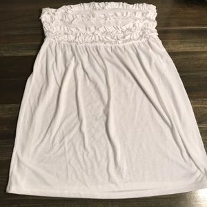 Juniors White Op SwimSuit Coverup Size XL (15-17)
